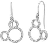 Disney Mickey Mouse Icon Silhouette Earrings by CRISLU - Platinum
