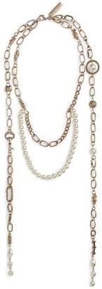Max Mara Metal Double Necklace