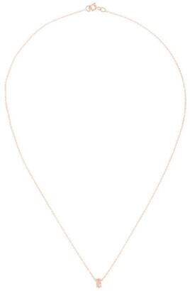 Natalie Marie 9kt Rose Gold Marquise Rutilated Quartz Pendant Necklace
