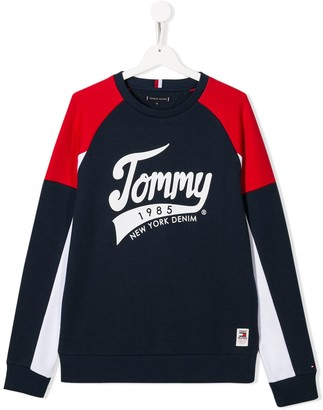 Tommy Hilfiger Junior TEEN 1985 colour-block sweatshirt