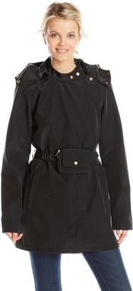 Ilse Jacobsen Women's Asymmetrical Zip Raincoat with Hood