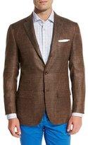 Kiton Cashmere-Blend Three-Button Sport Coat, Brown