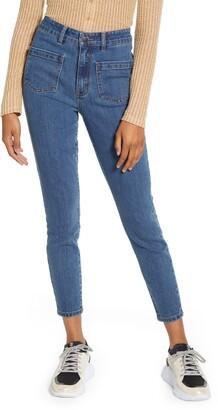 Prosperity Denim Front Pocket Crop Jeans