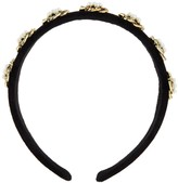 Accessorize Swirly Pearly Velvet Alice Band - Black