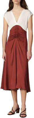 Sandro Ruched Sleeveless A-line Dress