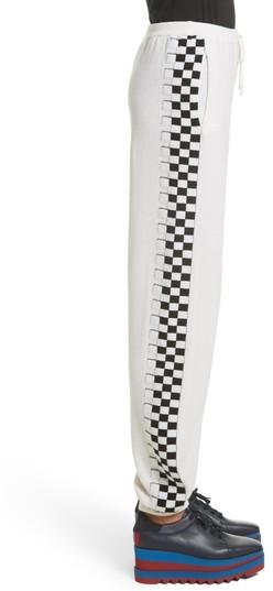 Stella McCartney Women's Check Stripe Wool Joggers