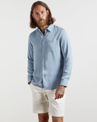 Ted Baker Lyocell Soft Plain Shirt
