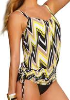 Crazycatz@ Women Black And Two Piece Swimwear Tankini Set Top+Short ... ...