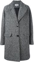 Carven single breasted coat - women - Polyamide/Acetate/Viscose/Virgin Wool - 40
