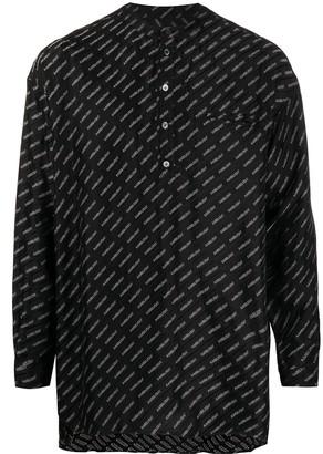 Ambush Logo Jacquard Band-Collar Shirt