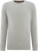 Linea Hampshire Checkerboard Knit Crew Neck Jumper