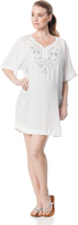 A Pea in the Pod Embroidery Maternity Swim Cover-up