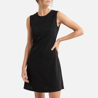 Molly Bracken Sleeveless Mini Dress with Round-Neck