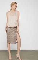 BCBGMAXAZRIA Faux Leather Snake Skirt