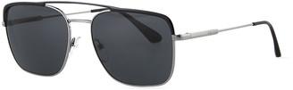 Prada Men's Square Metal Aviator Sunglasses