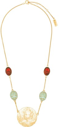 Rixo Saturn gold-plated beaded necklace