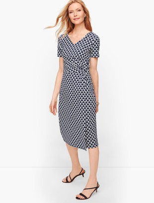 Talbots Twist Front Jersey Sheath Dress
