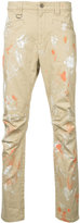 Roar paint splash chino trousers