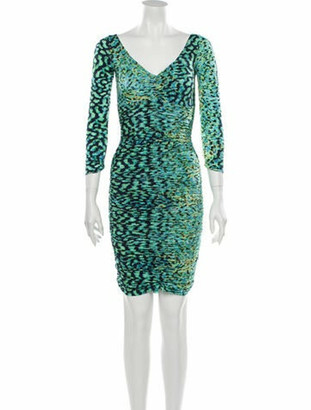 Chiara Boni Printed Knee-Length Dress Green