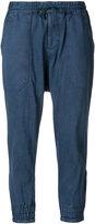 Yohji Yamamoto drop crotch cropped trousers