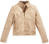Jessica Simpson Faux-Leather Jacket, Big Girls (7-16)