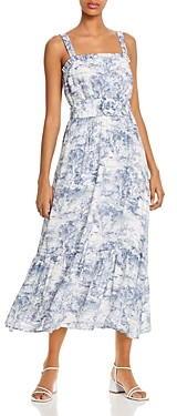 Lucy Paris Belted Toile Print Midi Dress - 100% Exclusive