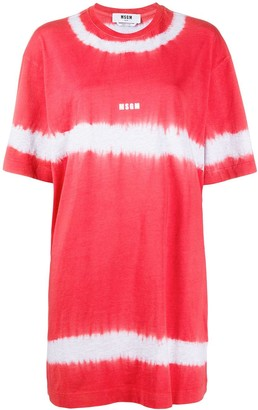 MSGM tie-dye print T-shirt dress