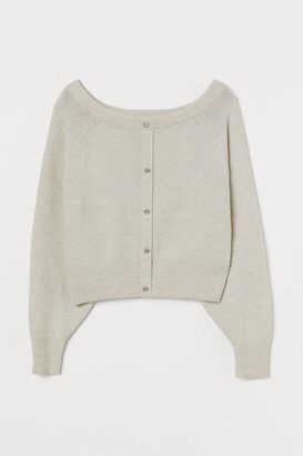 H&M Boat-neck Sweater - Brown