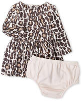Splendid Newborn/Infant Girls) Two-Piece Animal Print Dress & Bloomers Set