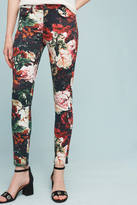 7 For All Mankind Floral Low-Rise Skinny Jeans