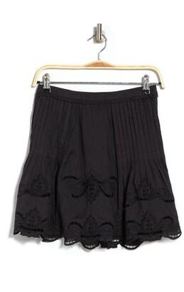 Reiss Tonal Embroidered Mini Skirt