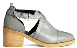 Asos RACING STRIPE Leather Ankle Boots - Gray