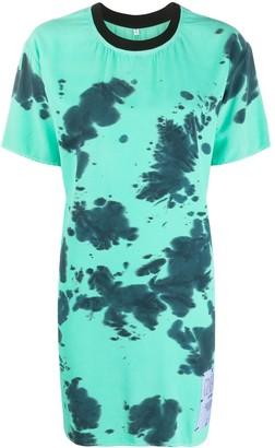 Mcq Swallow tie-dye T-shirt dress