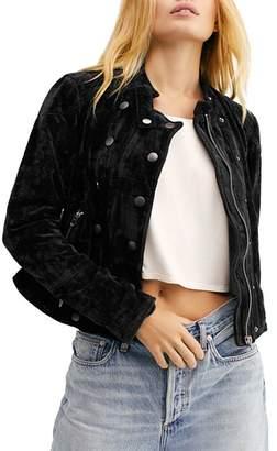 Free People Dusk Till Dawn Velvet Jacket