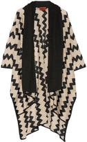 Missoni Crochet-knit Wrap - Black