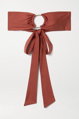 Cult Gaia Lexi Embellished Bandeau Bikini Top - Brown