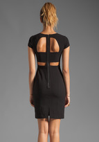 BCBGMAXAZRIA Short Sleeve Cut Out Dress