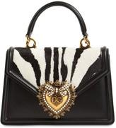 Dolce & Gabbana MINI DEVOTION LEATHER BAG W/ PONY DETAIL
