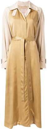 Roksanda Colour-Blocked Belted Trench Coat