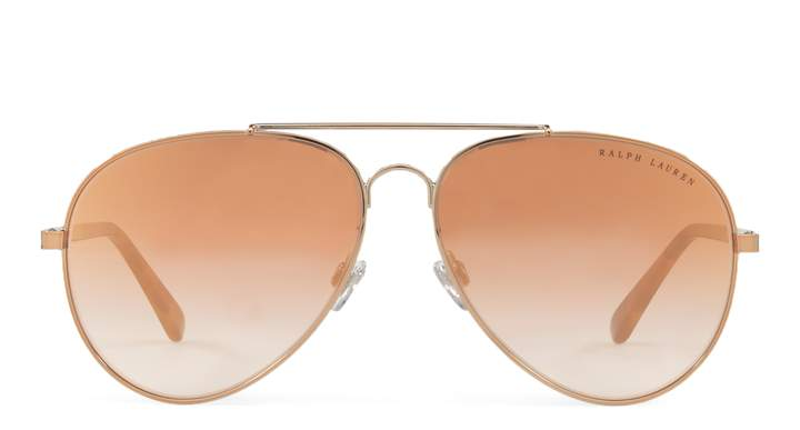 Ralph Lauren Mirrored Pilot Sunglasses