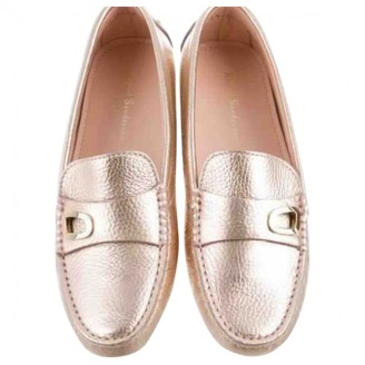 Rupert Sanderson Gold Leather Flats