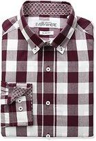 Nick Graham Men's Buffalo Check Dress Shirt