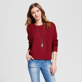Mossimo Women's Cable Pullover Sweater