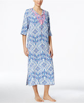 Charter Club Embroidery Embellished Caftan, Only at Macy's