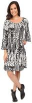 Roper 0431 Feather Ikat Printed Jersey Dress