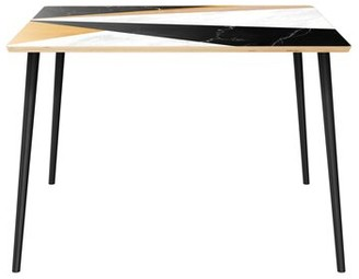 "Wrought Studioâ""¢ Haden Dining Table Wrought Studioa Top Color: Natural, Base Color: Black"