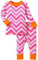 Masala Chevron PJ Set (Baby) - Pink/Orange-6-12 Months