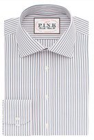 Thomas Pink Corson Stripe Classic Fit Button Cuff Shirt