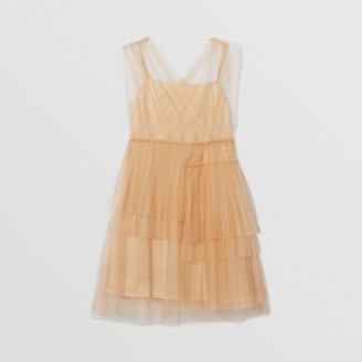 Burberry Tulle Tiered Dress