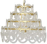 Noir Conley Crystal Chandelier - Brass/Clear